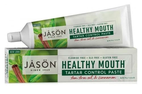 Jasons Natural Organic Tea Tree Cinnamon Toothpaste